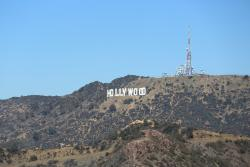 The Hollywood sign from the Griffiths Observatory