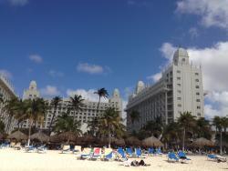 Vista do Hotel da praia