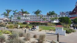 Looking back at the hotel from the beach