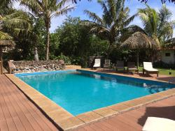 Pool at the Taha Tai Hotel, Hanga Roa.