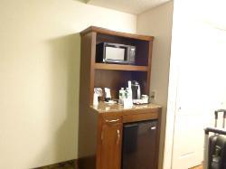 fridge/micro in room