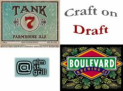 """Craft on Draft- """" TANK 7"""" from Boulevard Brewing Co a Saison Farmhouse Ale 8.50% ABV"""