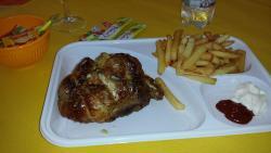 Pollo con Patatine Fritte