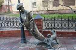 Sculpture Uncle Vasya - A Drunkard