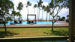 Beautiful pool with many sections of shallow water for kids