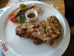 jamican chicken with microscopic sider :)