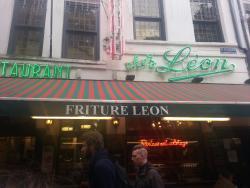 Um ótimo restaurante em Bruxelas.