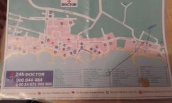 Cala Bona showing 10min walk to harbour