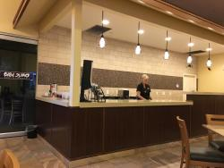 Waffle bar in the dining area