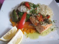 Fish Combo, Cod and Salmon