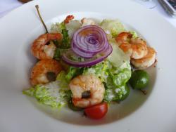salad with prawns, very nice