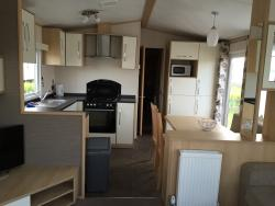 Lovely caravan- very new, very clean, modern, well equipped.