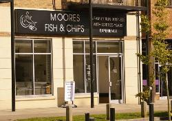 ‪moores fish and chips‬