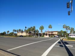 View of hotel from across the PCH