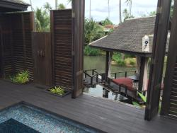 View from the private pool to the lagoon