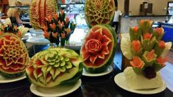 Fantastic fruit sculptures