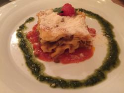 Lasagne at olive restaurant - delicious