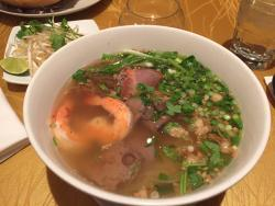 Egg noodle with seafood and a YUMMY broth my fav!