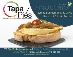 Nuestra tapa 'Rotolo di Frittata Farcito' ganadora de Tapapiés 2015