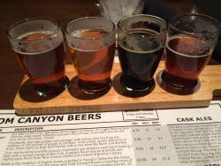 Downtown location, great beer and food