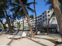 Main hotel from beach area