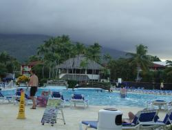 View of renovated pool area