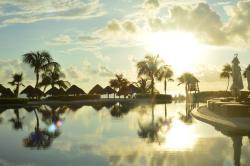 La piscina all'alba