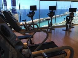 View of the Corniche from the gym