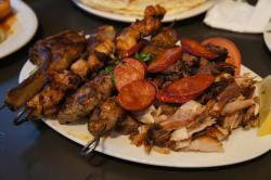 Grilled meat skewers.