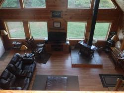 view of livingroom from loft