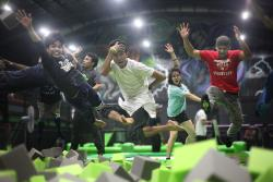 ‪Flip Out Indoor Trampoline Arena‬