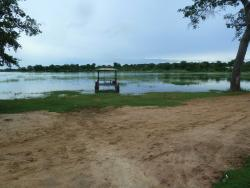 A view of the lake from the front gate