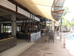 Bar area, get snack meals here..less expensive