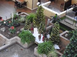 Hotel Lobby preparing for Christmas