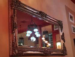 Ornate mirror inside TROIA!