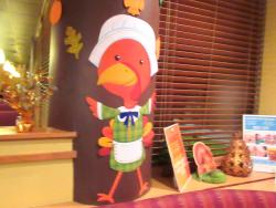 Thanksgiving Decorations, Coco's Restaurant, Anaheim, Ca