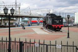 Locomotive-Monument Sergo Ordzhonikidze