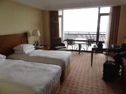 An 'Executive' level room with a balcony and view over the Bosphorous...