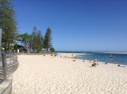 Beach 5 mins walk away