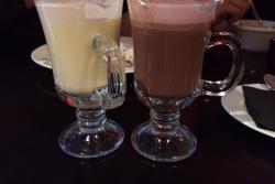 White and Milk hot chocolates at Polski Pub