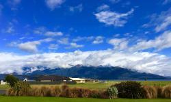 view of the mountains above Lake Te Anau