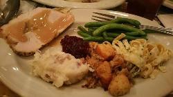 Buca di Beppo's Thanksgiving! (minus the delicious pumpkin pie)