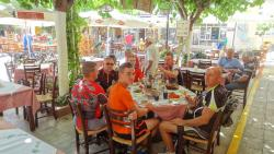 stop for fresh orange juice and cretan snack