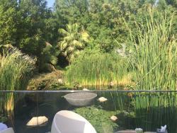 étendue d'eau jouxtant la terrasse