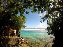 Visit the rock pools of Siargao island