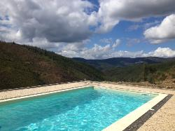 The pool overlooking the valley
