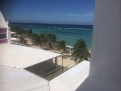 View from outside of room looking out