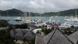 Yacht Marina Resort balkondan görüntü English harbour antigua