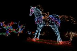 Lighted horse during Christmas at the Princess