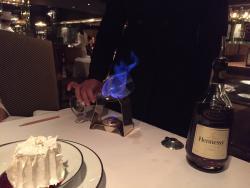 The flambé to be